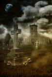 Halloween Churchyard Stock Images