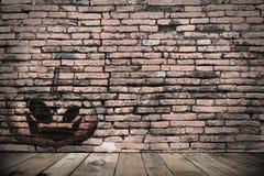 Halloween ściana w zmroku Zdjęcie Stock