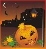 Halloween. Città notturna. Composizione astratta Immagini Stock Libere da Diritti