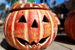 Halloween clay pumpkin Royalty Free Stock Images