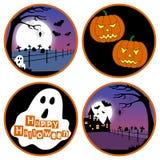 Halloween Clip Art. Four different Halloween clip art vector illustration