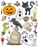 Halloween Clip-art Collection. Collection of cartoon clip-arts for Halloween Stock Photos