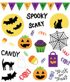 Colorful Halloween Vector Set royalty free stock image