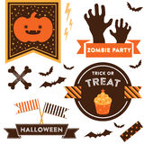 Halloween clipart Stockfotografie