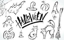 Halloween clipart set Royalty Free Stock Images