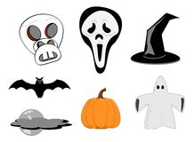 Halloween clipart Royalty Free Stock Photo