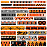 Halloween clipart washi  tape Stock Image
