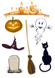 Halloween cliparts. Halloween clipart , set of icons Stock Photo