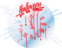 Halloween_clock illustration libre de droits