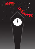 Halloween Clock Tower Stock Images