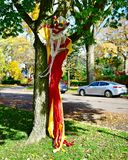 A Halloween Clown. This is a Fall picture of a Halloween display featuring a clown located in Evanston, Illinois in Cook County. This picture was taken on stock images