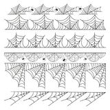 Halloween cobweb vector frame border separator and dividers line isolated on white with spider web for spiderweb scary. Menu design illustration Stock Photo