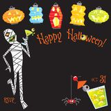 Halloween cocktail party invitation Royalty Free Stock Images