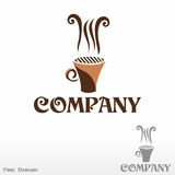 Halloween coffee. Logo Royalty Free Stock Images