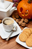 Halloween coffee composition Royalty Free Stock Images
