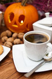 Halloween coffee composition Stock Photography