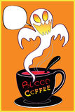 Halloween coffee shop Stock Images