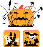Halloween collection Stock Images