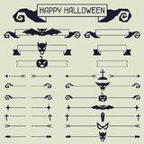 Halloween collection of design elements Stock Photo