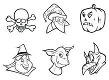 HALLOWEEN COLLECTION outline Royalty Free Stock Photography