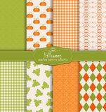 Halloween collection of seamless pattern Stock Photos