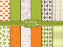 Halloween collection of seamless pattern Royalty Free Stock Image