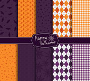 Halloween collection of seamless pattern Royalty Free Stock Photography