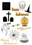 Halloween collection2 Royalty Free Stock Image