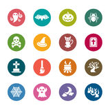 Halloween Color Icons Stock Images