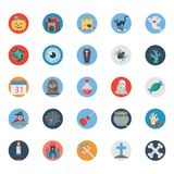 Halloween Color Illustration Isolated Vector Icons Pack Very trendy icons useful for Halloween stock illustration