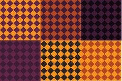6 Halloween colored patterns Royalty Free Stock Photos