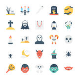 Halloween Colored Vector Icons 3 stock illustration
