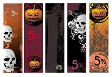 Halloween colorful banners Royalty Free Stock Photos
