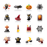 Halloween Colorful Icons Royalty Free Stock Images