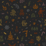 Halloween Colorful pattern Royalty Free Stock Photos