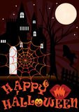 Halloween Colorful Web_eps. Halloween card with a colorful spiders web. Have a hauntingly delightful Halloween Royalty Free Stock Photos