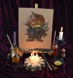 Halloween a colori 2 Immagini Stock Libere da Diritti