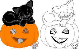 Halloween coloring page Royalty Free Stock Image