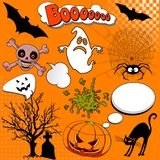 Halloween Comic elements Royalty Free Stock Photography