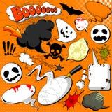 Halloween Comic speech bubbles Royalty Free Stock Image