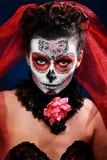 Halloween compone el cráneo del azúcar Fotografía de archivo