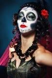 Halloween compone il cranio dello zucchero Fotografia Stock Libera da Diritti