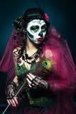 Halloween compone il cranio dello zucchero Fotografie Stock