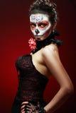 Halloween composent le crâne de sucre Photos stock