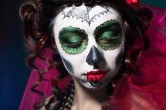 Halloween composent le crâne de sucre Image stock
