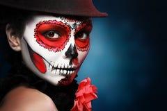 Halloween composent le crâne de sucre Photo libre de droits