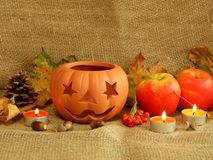 Halloween composition Royalty Free Stock Photo