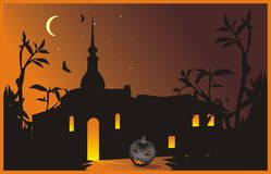 Halloween. Composition for card Royalty Free Stock Image