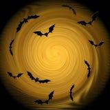 Halloween Composizione decorativa - i pipistrelli volano nella luce Fotografia Stock