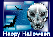 Halloween in computer Stock Photography